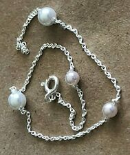 """(Cultured) $10.29 ea. All Sterling Sterling Silver .925 Anklet 9"""" Pearls"""