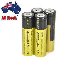 4PC Rechargeable 18650 3.7V Li-ion 4000mAh Battery For Flashlight Headlamp Torch