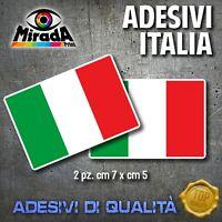Adesivi Stickers BANDIERA ITALIA ITALY FLAG TRICOLORE MOTO AUTO TUNING 2 PZ.