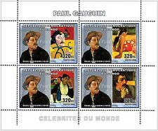 Painting of Paul Gauguin Congo DR m/s Yv. 1741-44 MNH #CDR0624