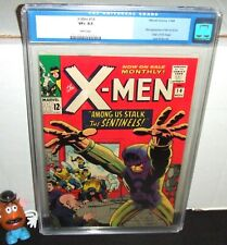 "X-MEN #14 MARVEL 1965 1ST APPEARANCE THE SENTINELS ORIGIN: ANGEL ""WHITE"" CGC 8.5"