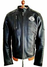 Vtg Leather HARLEY DAVIDSON Motorcycle Biker Cafe Racer Brando Bike Jacket Coat