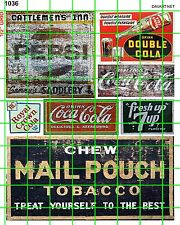 1036 DAVE's DECALS GHOST SIGNS MIXED MID CENTURY SODA SIGNAGE MAIL POUCH TOBACCO
