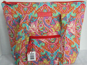 Vera Bradley Women Purse Shoulder Bag Handbag VILLAGER PAISLEY IN PARADISE