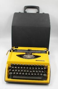 Vintage  Tippa S Portable Typewriter With Plastic  Case~ Made in Holland