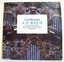 "33T BACH Disque Vinyl LP 12"" Carl WEINRICH ORGUE New-York RCA VICTOR 430.398"