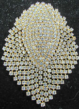 Gold Tone Rhinestones Brooch Pin  Articulate   Movable  Sparkling Showpiece