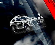 Mitsubishi 4x4 - Dakar Rally Car Window Sticker -Pajero,L200,Warrior,Shogun Sign
