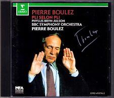 Pierre Boulez SIGNED Boulez pli selon pli 1986 Erato CD Phyllis Bryn-Julson