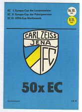 Orig.PRG   FC CARL ZEISS JENA    50 EC Spiele  // 1961 - 1977  //Statistiken  !!