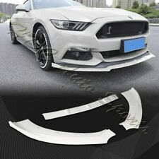 For 2015-2017 Ford Mustang Painted White Front Bumper Body Kit Spoiler Lip 3PCS