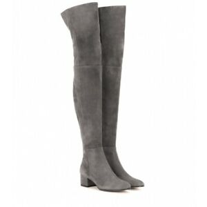 Women's Sexy Thigh Round Toe Over The Knee Thick Heel High Boots Nightclub Style