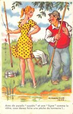 OLD COMIC  POSTCARD FISHING/FOREIGN  UNUSED    GOOD+/VERY GOOD  G839