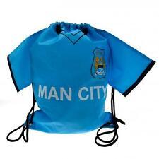 Manchester City Fc Man City Shirt Gym Bag Blue Top Football String School New