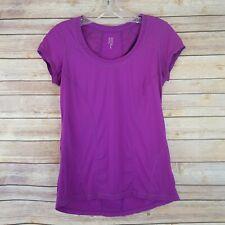 Zella Womens Athletic Top Size S Short Sleeve Purple