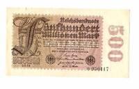 1923 Germany Weimar Republic 500.000.000 / 500 million mark banknote