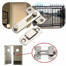 1x Stainless Home Safety Gate Door Bolt Latch Slide Lock Hardware + Screw