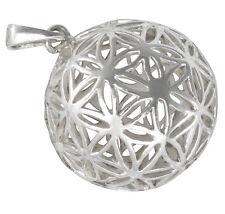 Blume des Lebens Anhänger Silber 925 Meditation Heilige Geometrie b105