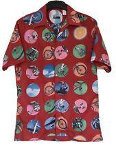 Paul Smith Rare Cycling Print Shirt Vintage 90s Size M