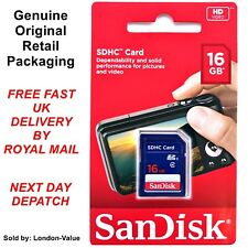 Sandisk 16GB SD SDHC Memory Card for Digital Camera and Other Devices