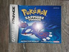 Gameboy advance pokemon sapphire version booklet instruction manual vgc nintendo