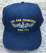 USS San Francisco SSN-711 Ball Cap Submarine Dolphins US Navy Sub Veteran Hat