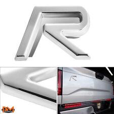 """R""Polished Metal 3D Decal Chrome Emblem For Toyota/Honda/Hyundai/Volvo/Acura"