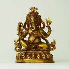 Ganesha Statue (Feine Qualität) Kupfer Skulptur Nepal Handwerk Unikat Indien