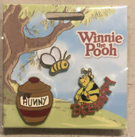 Official Disney Trading Pin ~ Winnie The Pooh set of three * Hunny Bee Happy