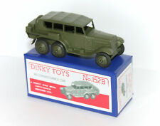 DINKY TOYS 152B Reconnaissance Car Army Military RESTORED/REPAINTED + Repro box