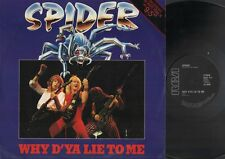 """SPIDER Why D'Ya Lie To Me  12"""" Ps, 1983 Nwobhm Maxi Single, 3 Trackis Inc 9-5+Fo"""