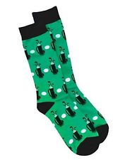 Hanes Men's Golf Crew Socks 1 Pair Green Black  White  10-13