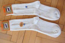 Turkish %100 Merino Wool Men Socks Cream-Geometric Print-Warmly-1 Lot 4 Pairs