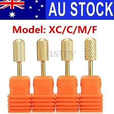 AU 4Pcs 3/32'' Gold Top Carbide Manicure File Nail Art Drill Bit Tool XC/C/M/F