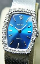 ROLEX PRECISION 18K White Gold Case & DIAMOND Bezel/Cal.1400 / WOMEN Wrist Watch