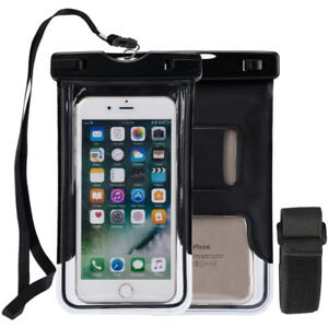 Waterproof Bag Underwater Dry Pouch Case Cover Lanyard Armband Glow For iPhone