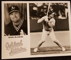 MARK McGWIRE OAKLAND A's OFFICIAL 8X10 GLOSSY PHOTO CIRCA 1990's