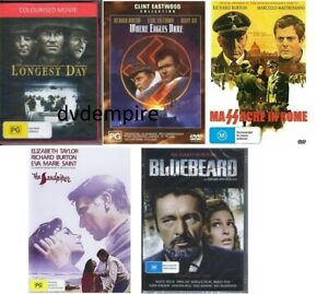 Richard Burton 5 DVD Collection The Longest Day, Where Eagles Dare + more NEW
