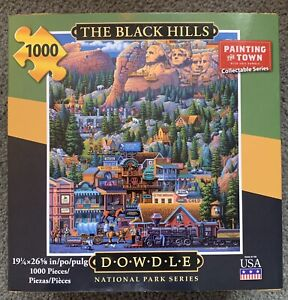 THE BLACK HILLS 1000 Piece Jigsaw Puzzle DOWDLE National Park Series 19 x 26
