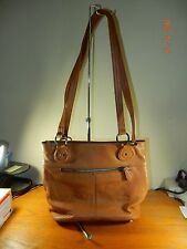 Stone & Co Company Womens Camel Leather Bucket Shoulder Purse Handbag