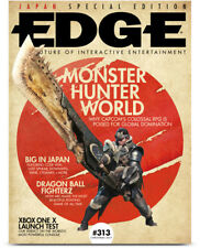 EDGE magazine Issue 313 Xmas 2017 Monster Hunter World Dragon Ball FighterZ NEW