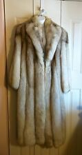 SAGA FOX FUR COAT Full Length Conditioned by Master Furrier Large Size 12