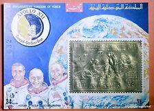 Bloc Feuillet OR neuf ** MNH  GOLD  - Yémen - APOLLO XII  LUNE  BD11