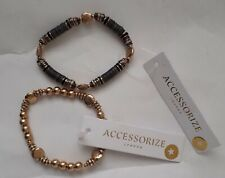 TWO BRAND NEW ACCESSORIZE BRACELETS  GOLD TONE & ETHNIC/BOHO RRP £7.00 EACH