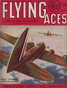 1941 Flying Aces March Pulp-7 seconds to doom; Daze in Dunkirk; Stinson; Dornier