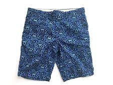 Banana Republic Men's  Flat Front Casual/Walking Shorts Blue Paisley Size 33