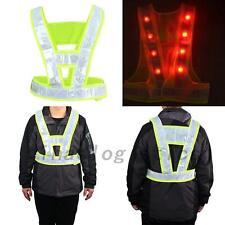 LED Light Safety Vest with Reflective Stripes Useful