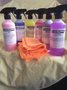 CHROME CLEANING KIT PLUS 2 MICROFIBRE CLOTHS