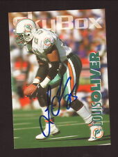 Louis Oliver--Autographed 1993 Skybox Football Card--Miami Dolphins