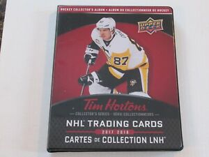 2017-18 Upper Deck Tim Horton's Trading Card Binder + Card Set